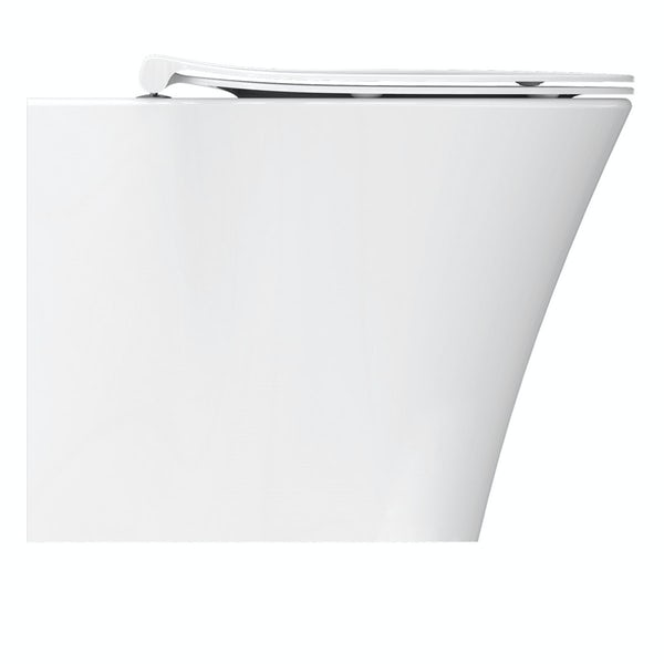 Ideal Standard Concept Air back to wall toilet with soft close toilet seat and concealed toilet cistern