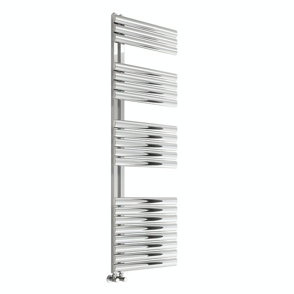 Reina Scalo polished stainless steel designer towel rail