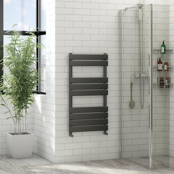 Orchard Wharfe anthracite grey heated towel rail 950 x 500