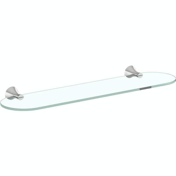 Accents round contemporary glass shelf