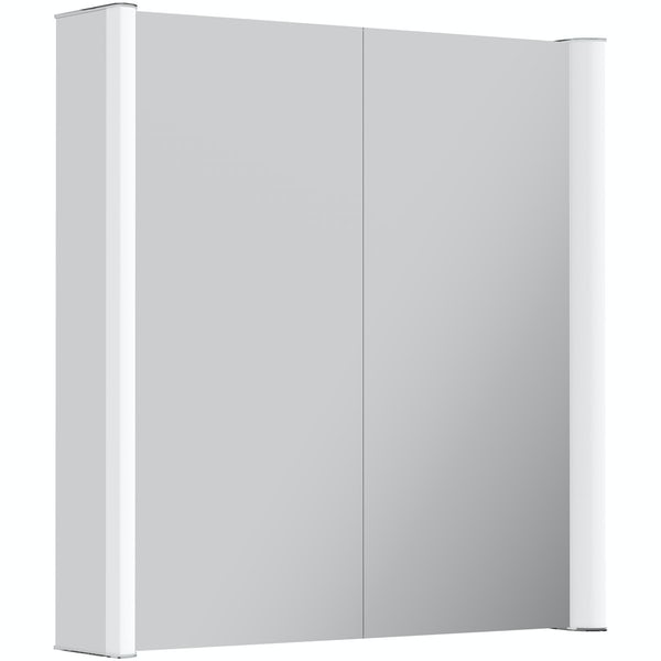 Kiana double diffused LED mirror cabinet