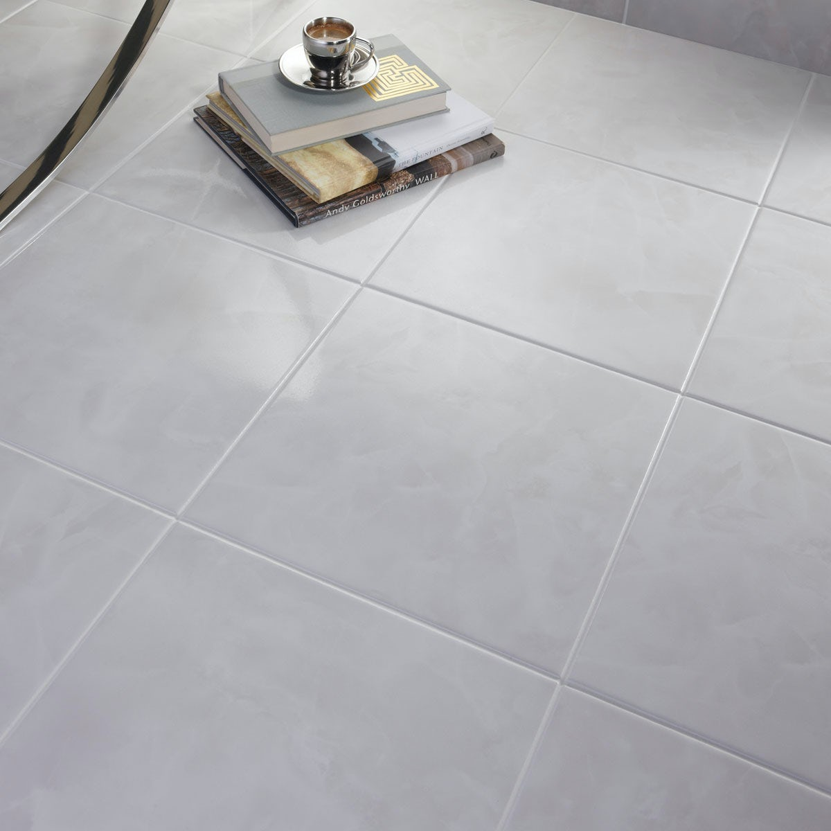 British Ceramic Tile Polar White Gloss Tile 331mm X 331mm