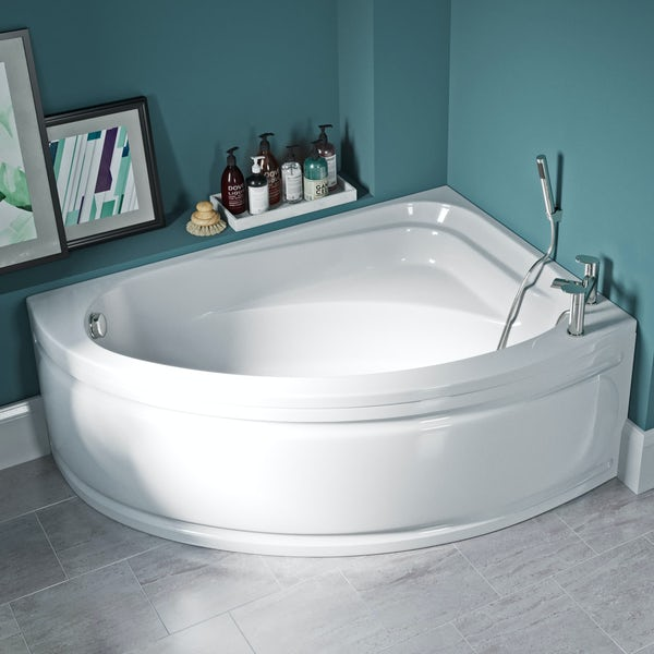 Orchard Elsdon right handed offset corner bath with panel 1500mm