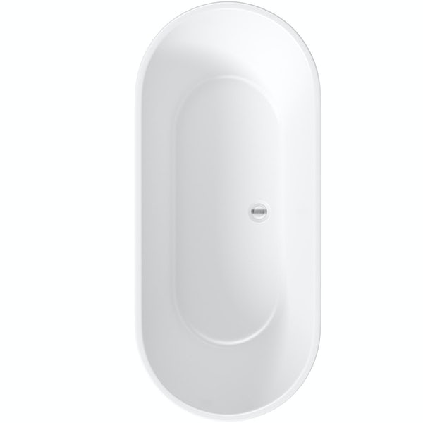 Mode Tate freestanding bath and freestanding tap pack