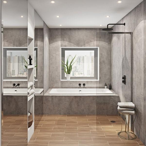 Multipanel Linda Barker Concrete Elements unlipped shower wall panel 2400 x 1200