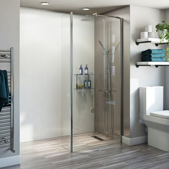 Orchard 6mm wet room glass panel and fixed return panel