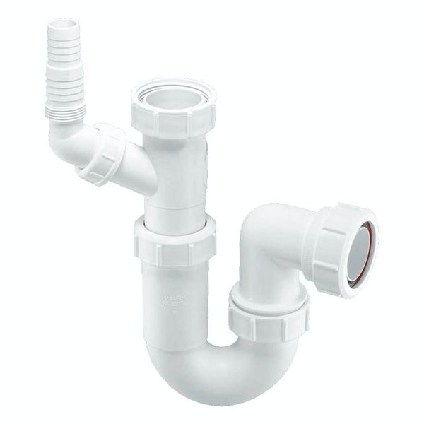"""McAlpine Adjustable sink trap with 1½"""" multifit outlet and 135° swivel connection"""