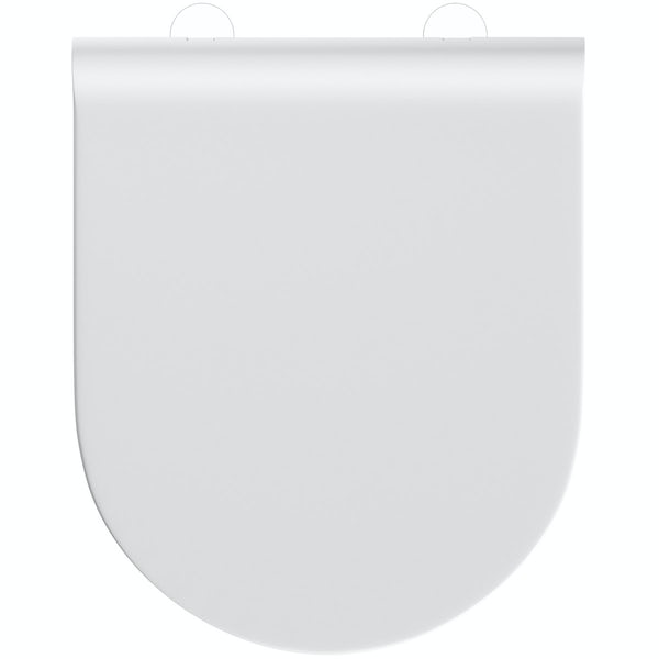 Mode slim D shape thermoset toilet seat with soft close hinges and quick release