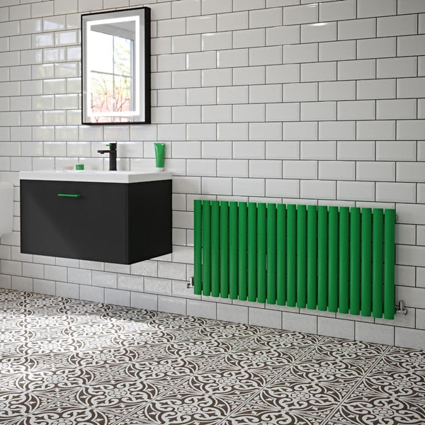 The Tap Factory Vibrance green vertical panel radiator