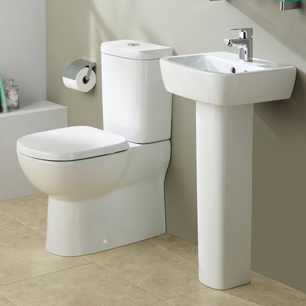 Ideal Standard Tempo 1 tap hole full pedestal bathroom basin 400mm