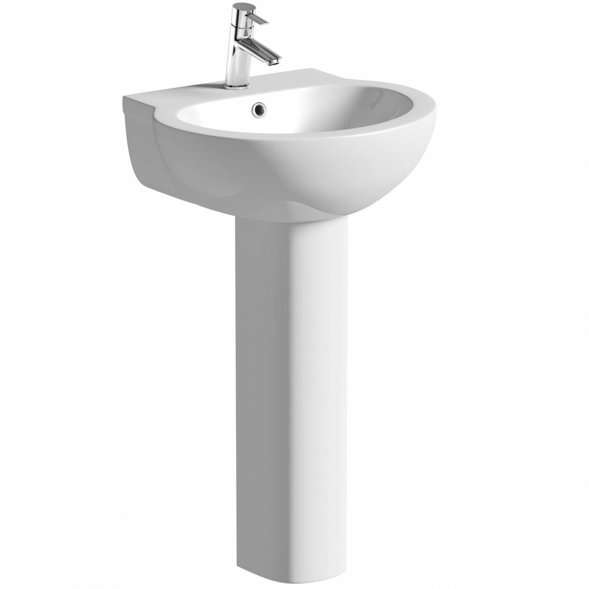 Clarity Madison 1 tap hole full pedestal basin 540mm