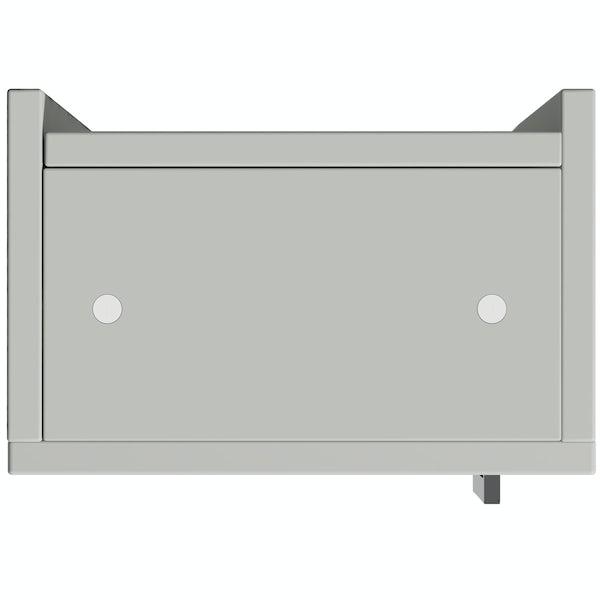 Reeves Wyatt light grey wall hung cabinet 720 x 300mm