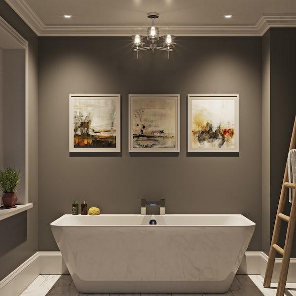 Forum Solis cylinder 3 light bathroom ceiling light