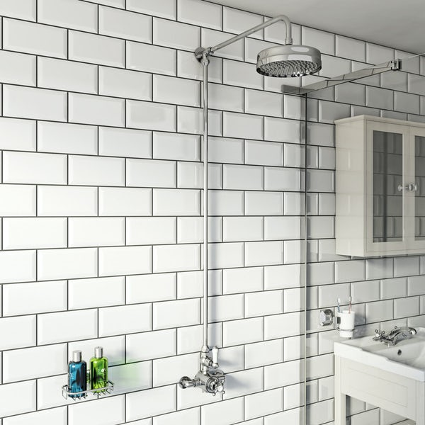Winchester rain can exposed riser rail shower system