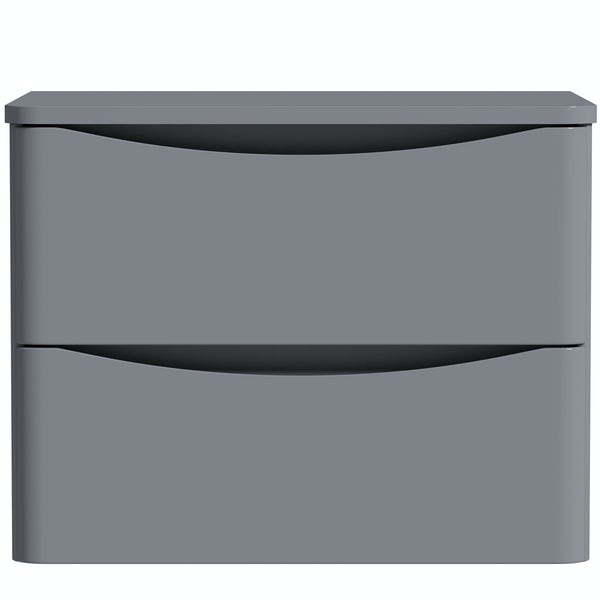 Mode Adler grey 600mm wall hung vanity unit and countertop