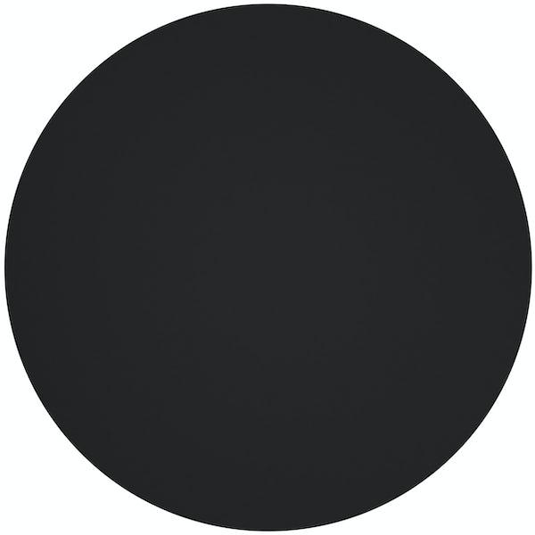 Dome top click clack unslotted basin waste in matt black