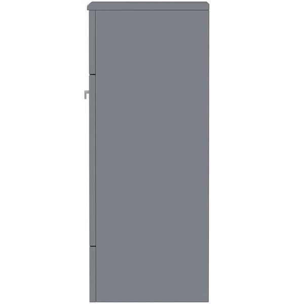 The Bath Co. Hatfield grey storage unit 800 x 301mm