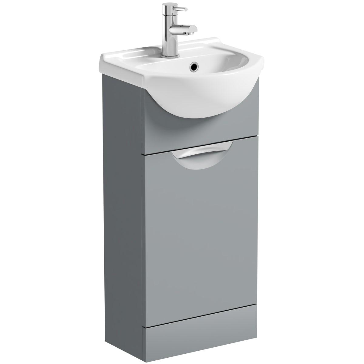 Orchard Elsdon stone grey vanity unit and basin 410mm
