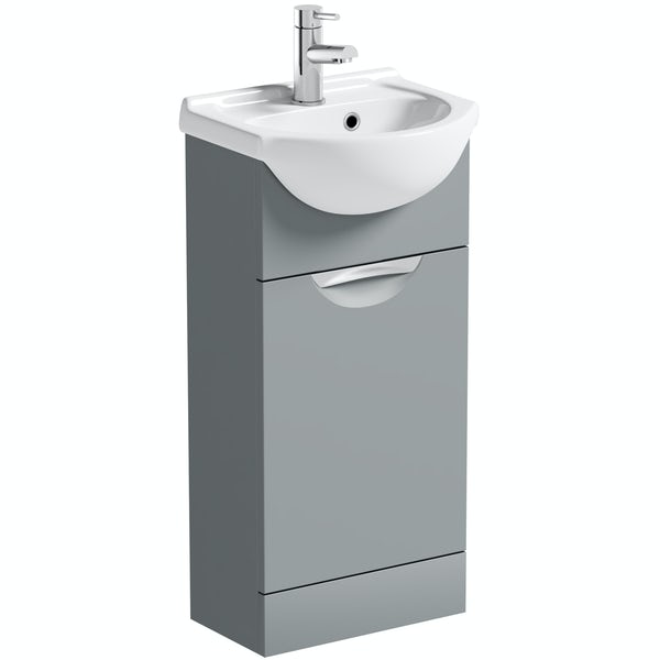 Orchard Elsdon stone grey vanity unit and basin 410mm