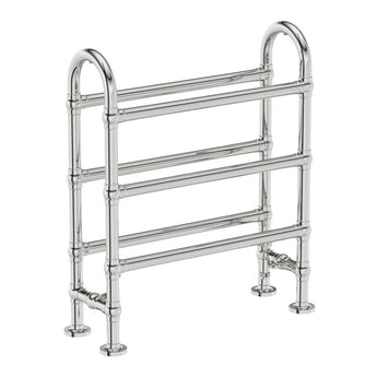 The Heating Co. Aziz chrome floorstanding heated towel rail 778 x 686