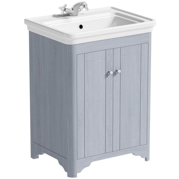 The Bath Co. Beaumont powder blue vanity unit