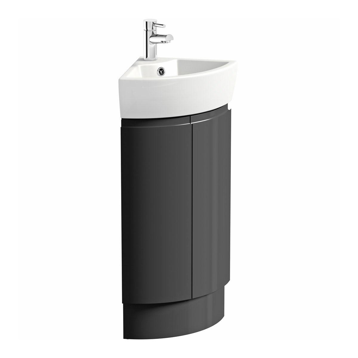 Bathroom Vanity Units B Q: Mode Harrison Slate Corner Vanity Unit And Basin