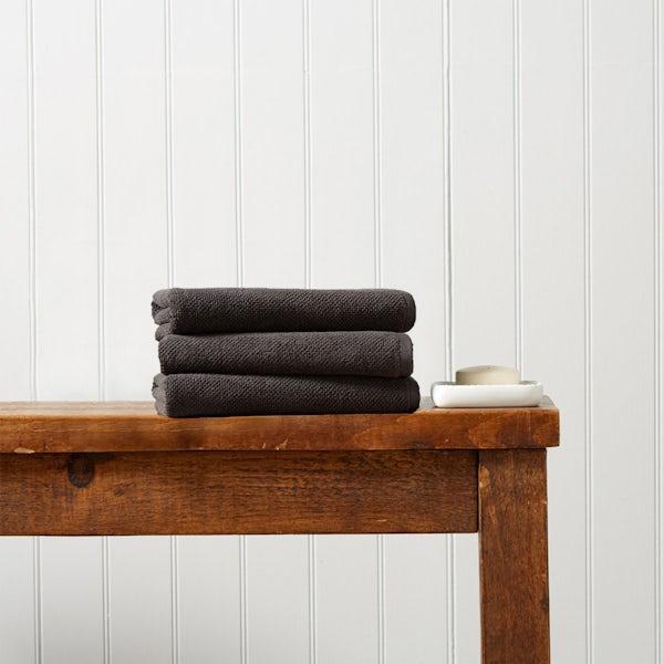 Christy Brixton liquorice hand towel