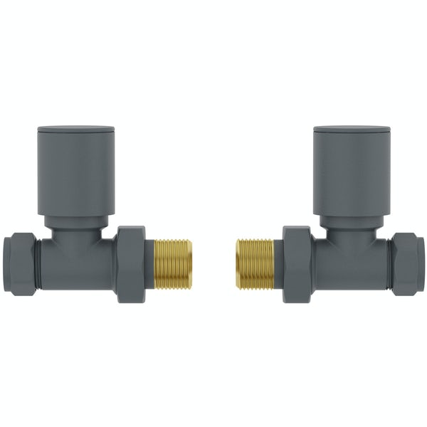 Orchard straight anthracite radiator valve