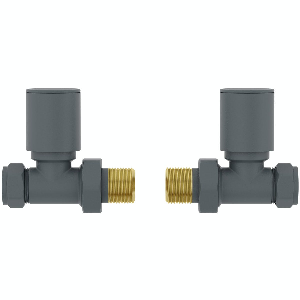 The Heating Co Straight Anthracite Grey Radiator Valves At Victoriaplum Com