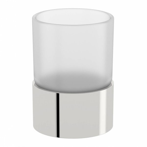 Options Freestanding Frosted Glass Tumbler