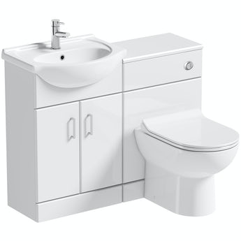 Orchard Eden white 1060mm combination with Eden contemporary back to wall toilet