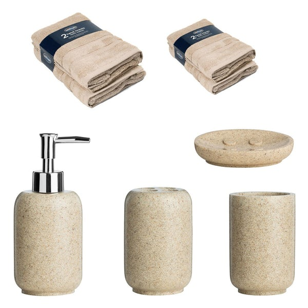Accents Stone effect bathroom bundle