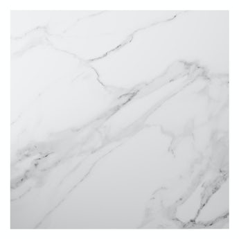 Polar white marble effect matt wall and floor tile 600mm x 600mm
