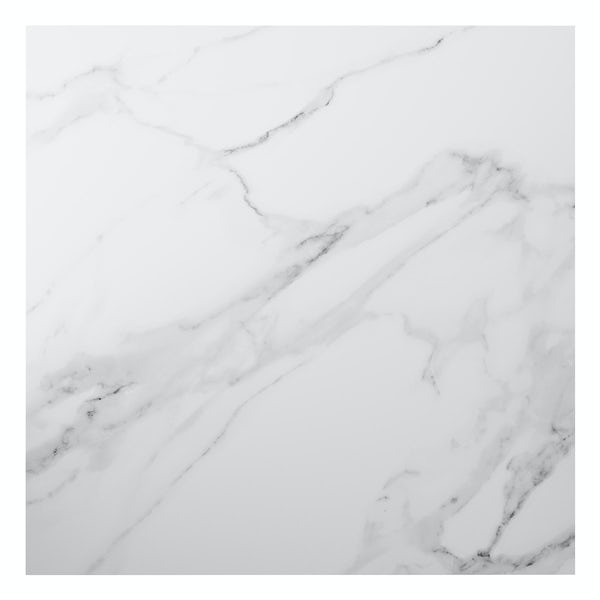 Mont Blanc white marble effect matt wall and floor tile 600mm x 600mm