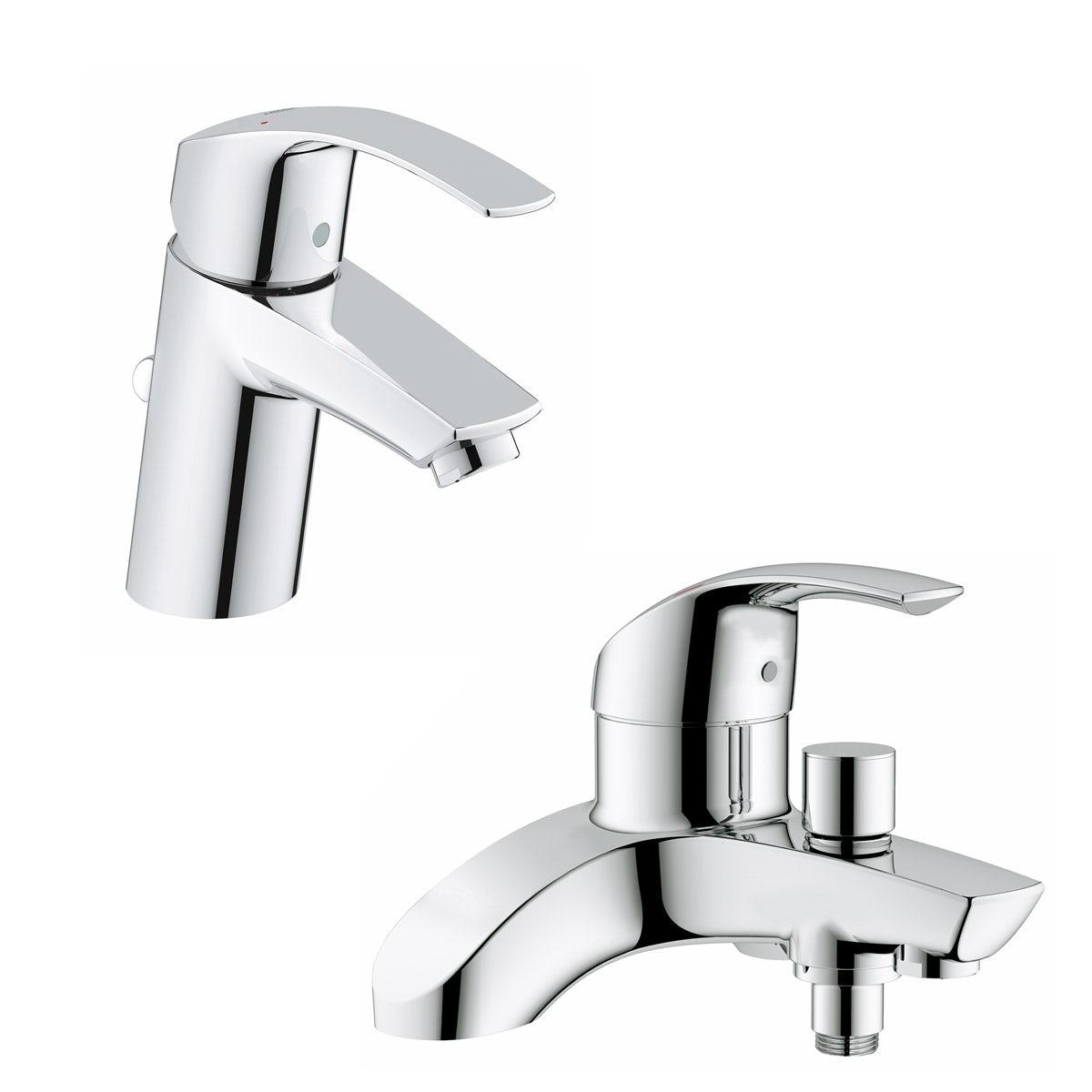 Grohe Eurosmart Basin And Bath Shower Mixer Tap Pack