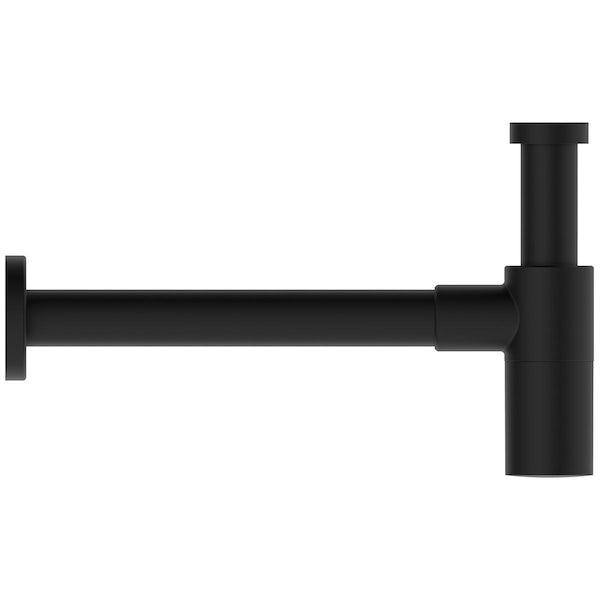 Ideal Standard silk black bottle trap