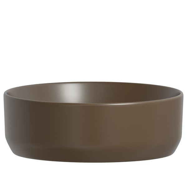 Mode Orion brown coloured countertop basin 355mm