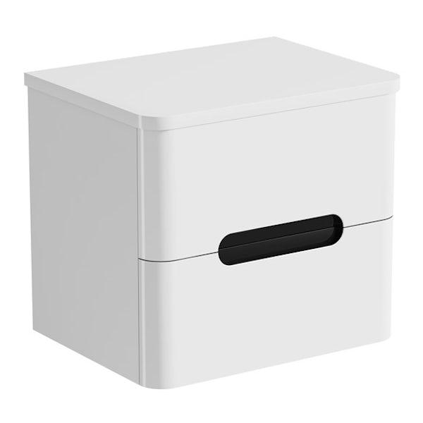 Mode Ellis select essen wall hung vanity drawer unit and countertop 600mmMode Ellis essen wall hung vanity drawer unit and countertop 600mm