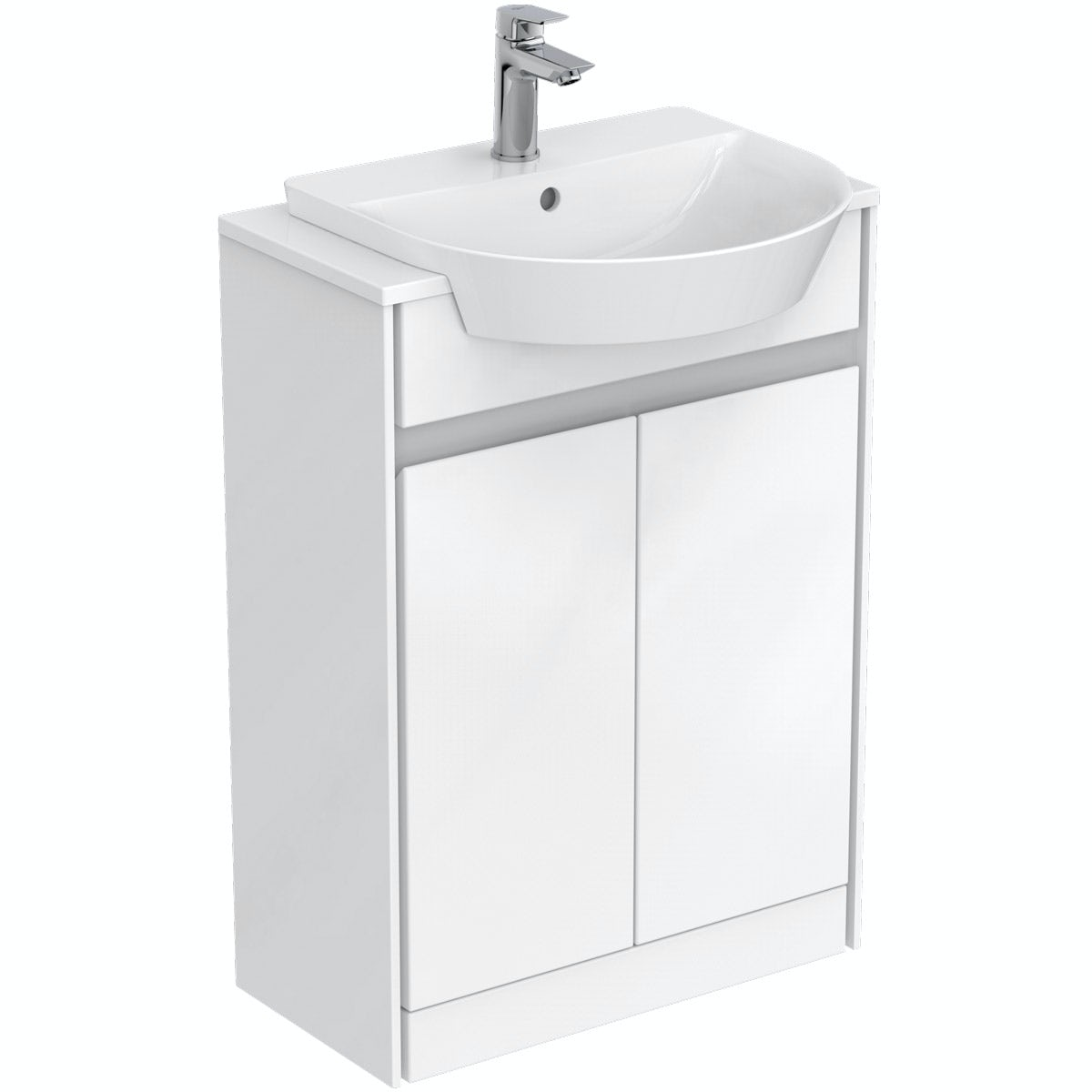 Ideal standard concept air gloss and matt white vanity for Diagonal ideal standard
