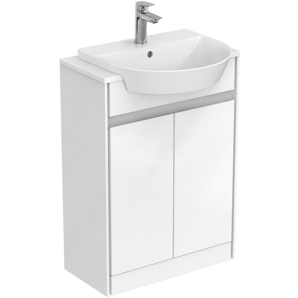 Ideal standard concept air gloss and matt white vanity for Ideal standard diagonal