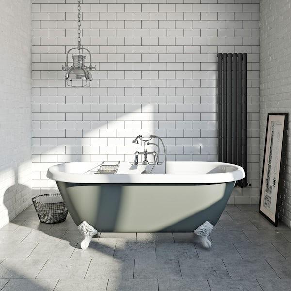British Ceramic Tile Metropolis Mid Grey Matt Tile 331mm X