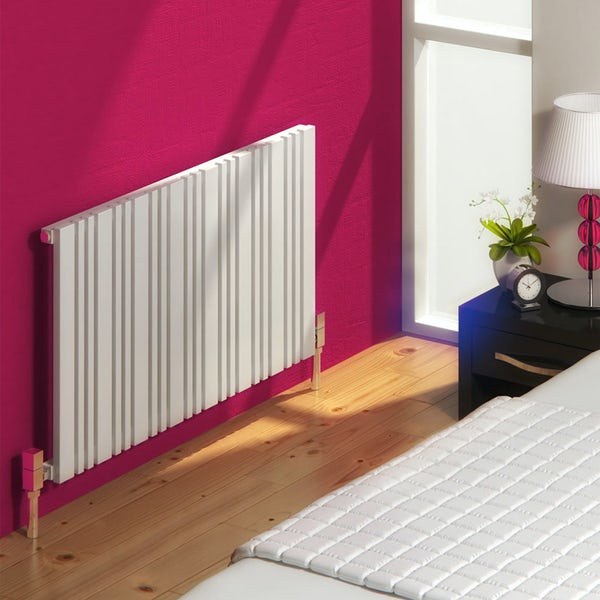 Reina Bonera white horizontal steel designer radiator