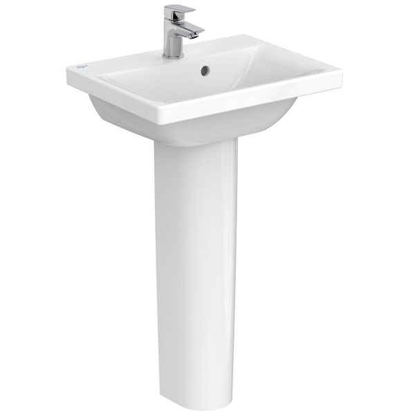 Ideal Standard Concept Space 1 tap hole full pedestal basin 500mm
