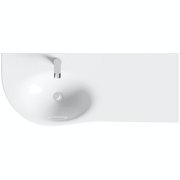 Mode Burton white wall hung vanity unit and basin 1200mm