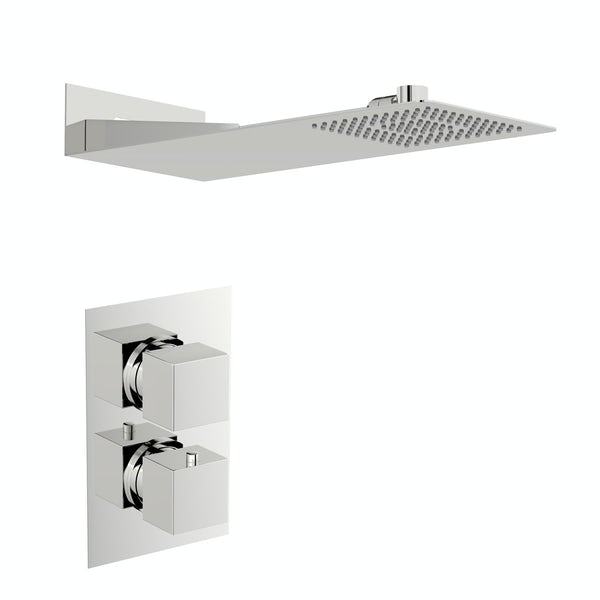 Mode Ando thermostatic mixer shower with wall shower head