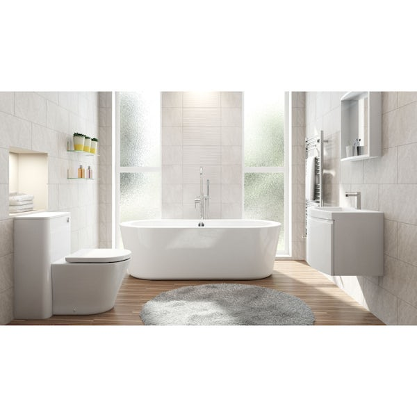Arte BTW Toilet, Freestanding Bath and Curvaceous Room Set