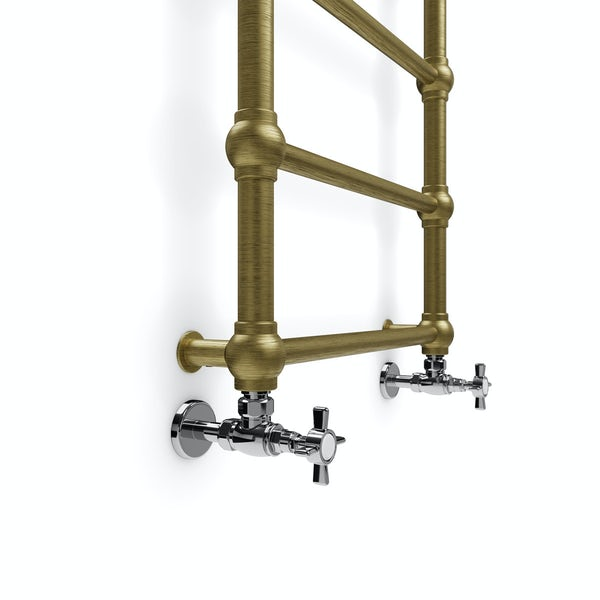 Terma Retro brushed brass designer towel rail