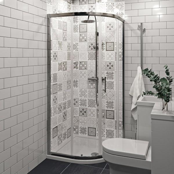 Showerwall Custom Victorian Grey acrylic shower wall panel