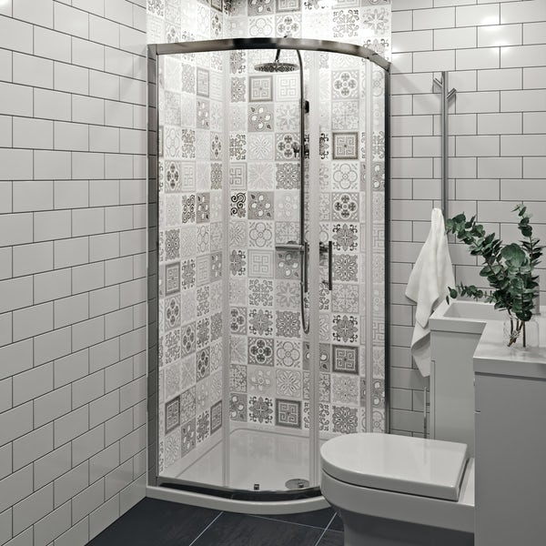 Showerwall Custom Victorian Grey acrylic shower wall panel