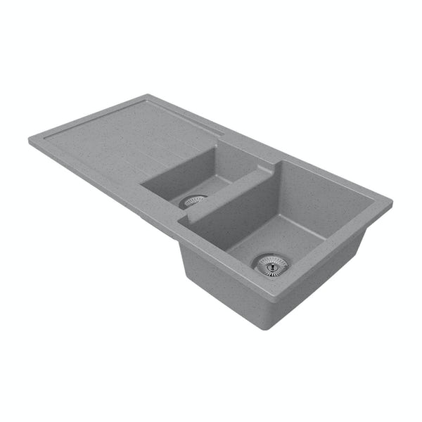 Schon Roseto Cobblestone 1.5 bowl reversible countertop kitchen sink